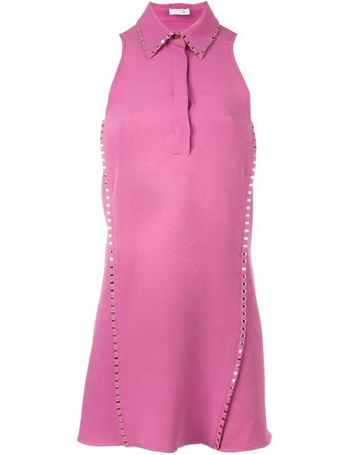 Versace | Женское Розовое Платье Без Рукавов
