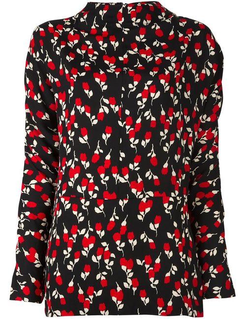 Marni | Женская Чёрная Блузка С Цветочным Принтом