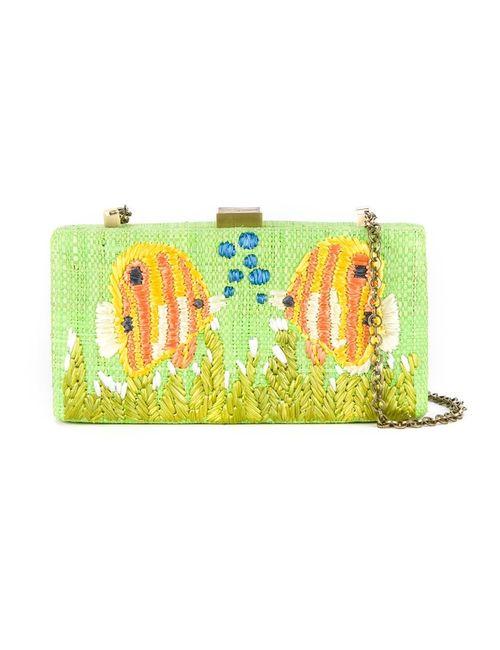 SERPUI   Женское Зелёный Embroidered Clutch