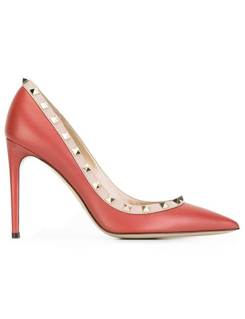 Valentino | Женские Красные Туфли Rockstud