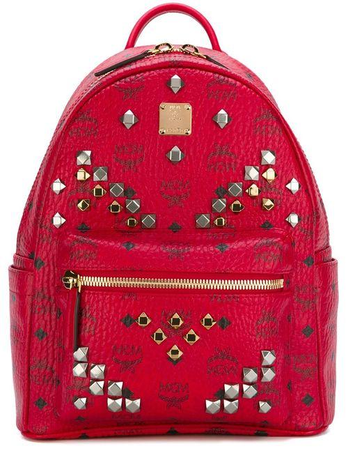 MCM | Женское Красный Medium Stark Backpack