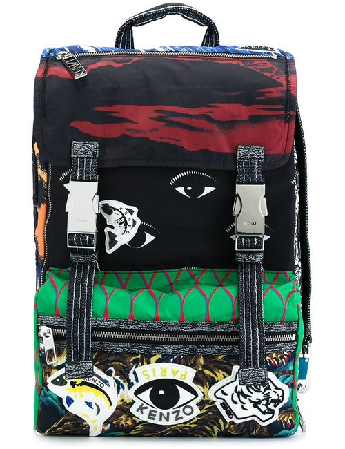 Kenzo | Мужской Многоцветный Рюкзак Со Смешанным Принтом