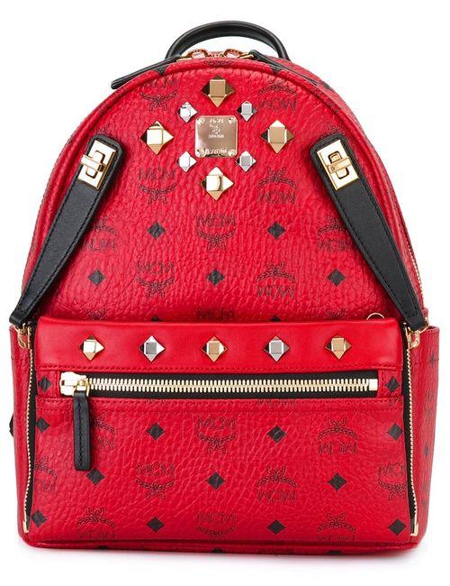 MCM | Женский Красный Рюкзак С Логотипом