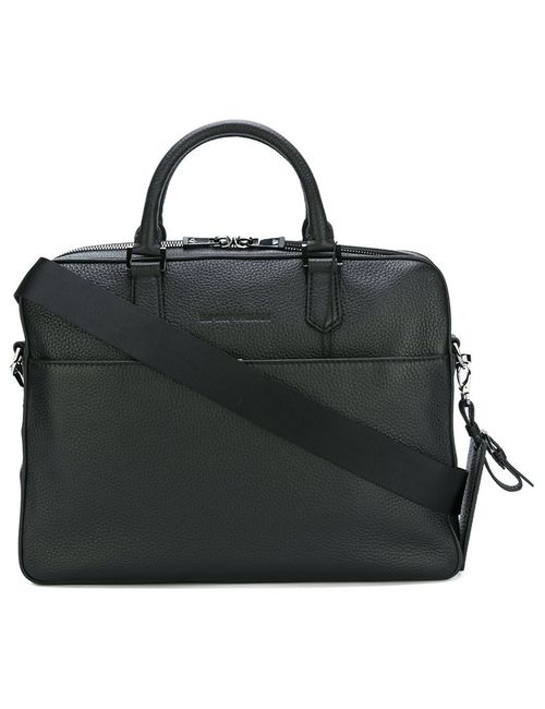Emporio Armani | Мужское Черный Grained Leather Briefcase