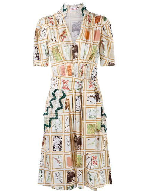 Isabela Capeto | Женское Nude & Neutrals Print Belted Dress
