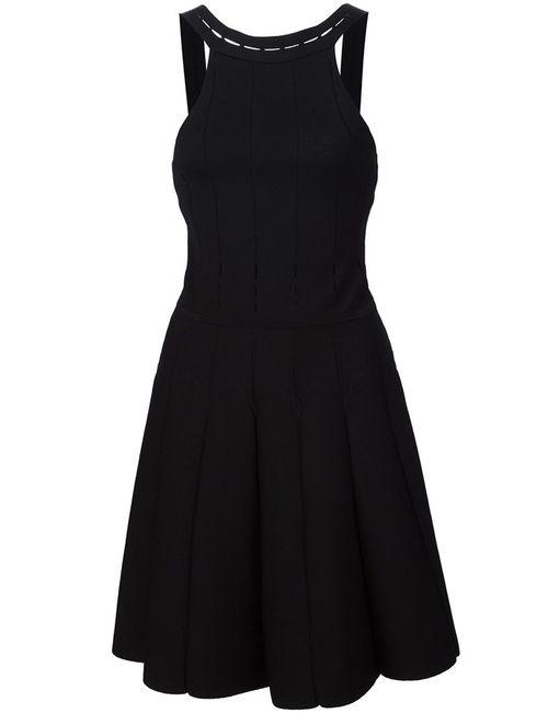 Cushnie Et Ochs | Женское Чёрное Платье С Отделкой В Рубчик