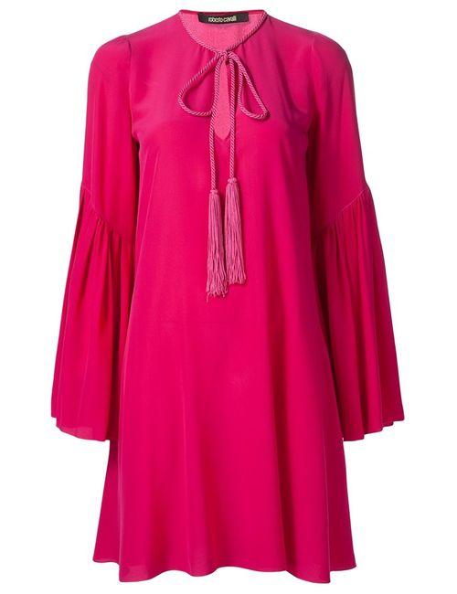 Roberto Cavalli | Женское Розовое Платье Свободного Кроя
