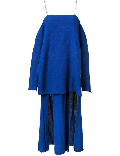 KITX | Женское Синее Платье Suspended Layered