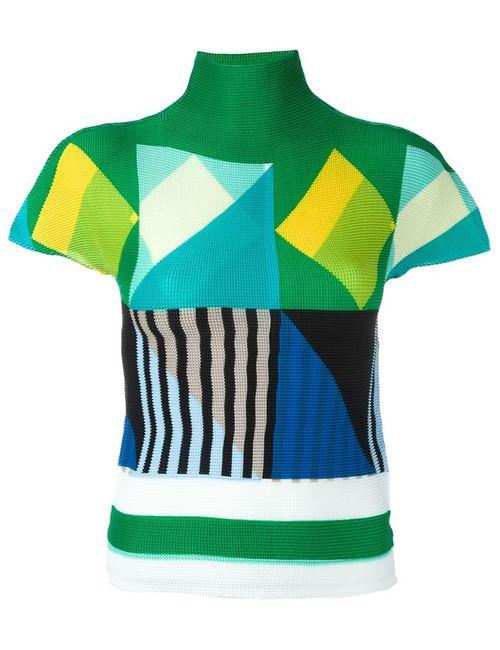 Issey Miyake Cauliflower | Женское Многоцветный Geometric Pattern Knitted Top