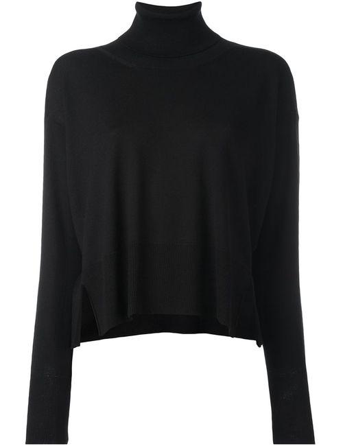 MM6 by Maison Margiela | Женский Чёрный Пуловер С Высокой Горловиной