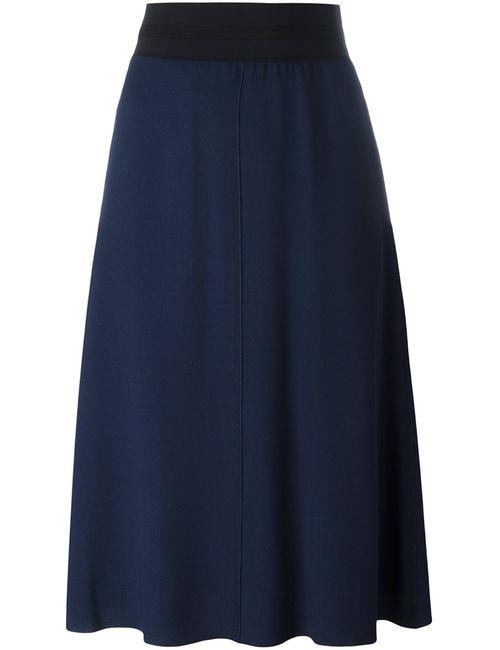 MSGM | Женская Синяя Юбка А-Образного Кроя