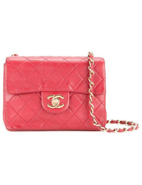 Chanel Vintage | Женская Красная Небольшая Сумка-Конверт
