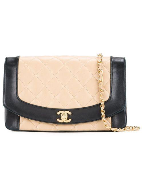 Chanel Vintage | Женская Чёрная Сумка На Плечо Diana