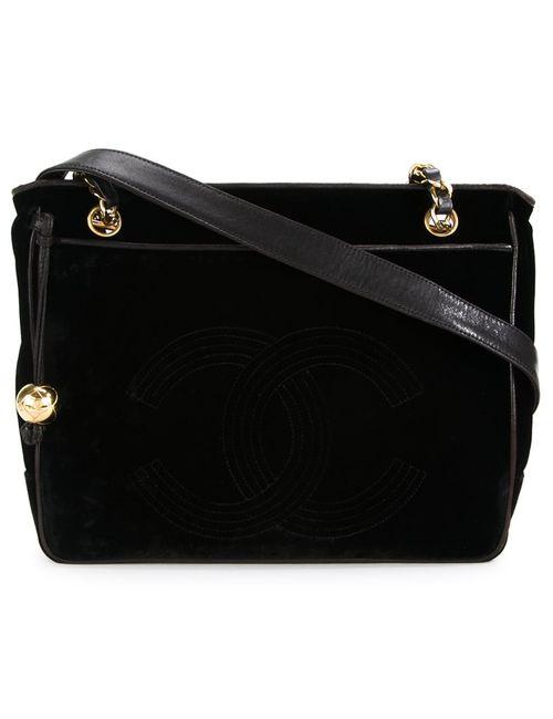Chanel Vintage | Женское Чёрный Velvet Shoulder Bag