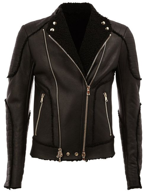 Balmain | Мужская Чёрная Байкерская Куртка