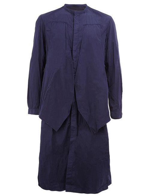 ZIGGY CHEN | Мужская Синяя Длинная Рубашка На Пуговицах