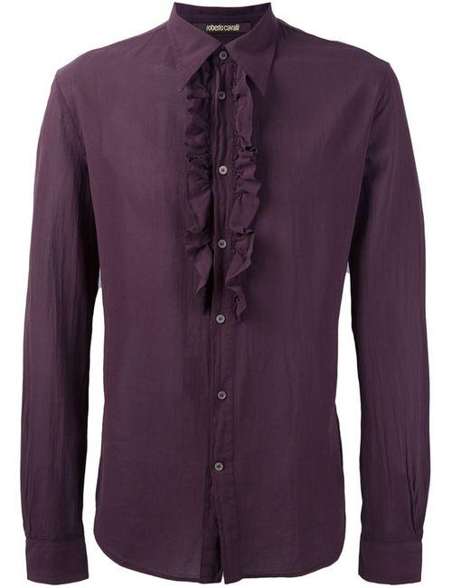 Roberto Cavalli | Мужская Розовая Рубашка С Оборками