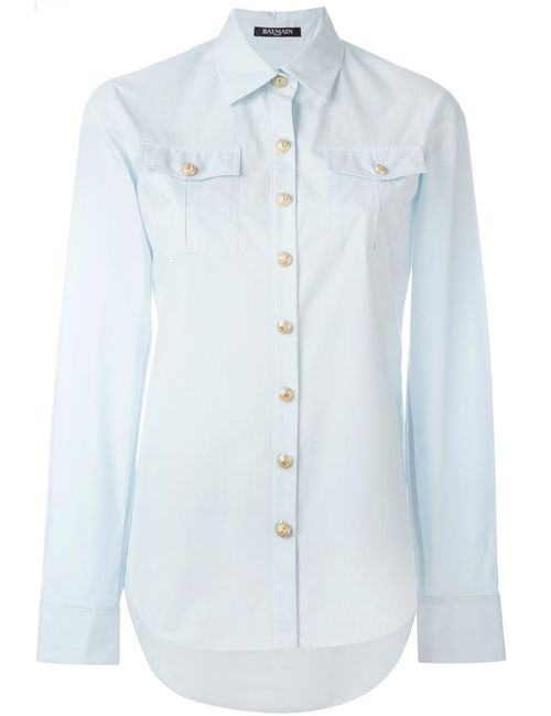 Balmain | Женское Синий Classic Poplin Shirt
