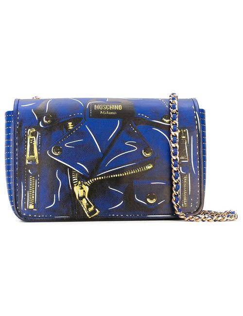 Moschino | Женская Синяя Сумка На Плечо