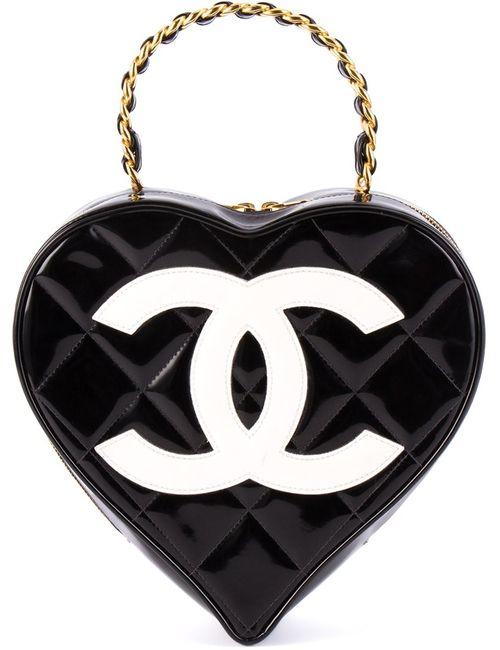 Chanel Vintage | Женская Черный Сумка В Форме Сердца