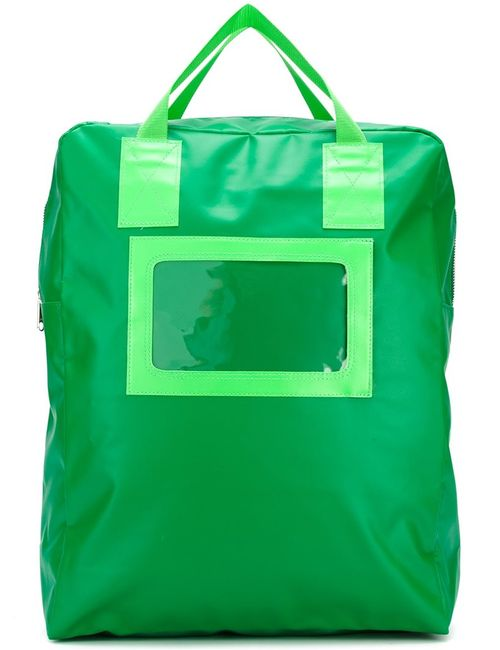 Comme Des Garcons | Мужской Зелёный Квадратный Рюкзак
