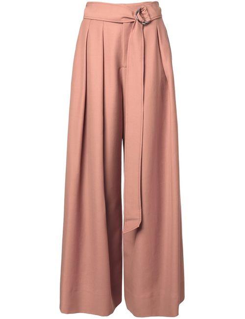 Irene | Женские Розовые Плиссированные Брюки Палаццо