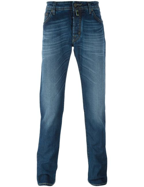 Jacob Cohёn | Мужское Синий Jacob Cohen Fold Mark Effect Slim Fit