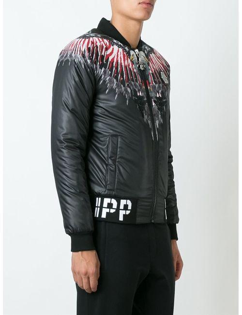 Philipp Plein | Мужская Чёрная Куртка-Бомбер Fairview Shore