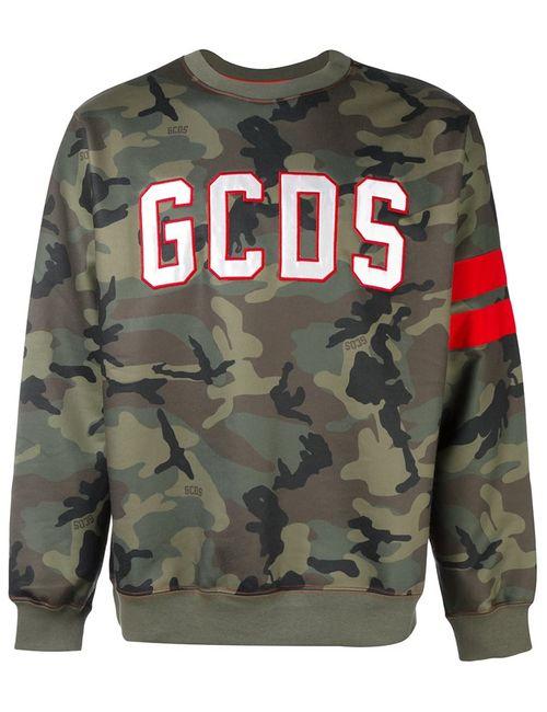 Gcds | Мужская Зелёная Камуфляжная Толстовка С Логотипом