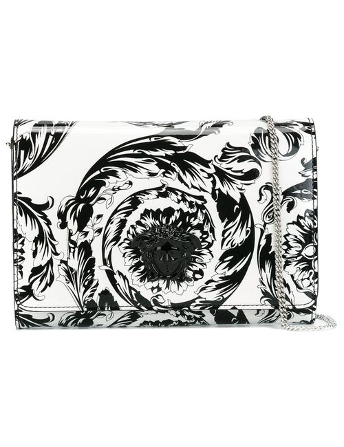 Versace | Женский Белый Лакированный Клатч Palazzo Medusa