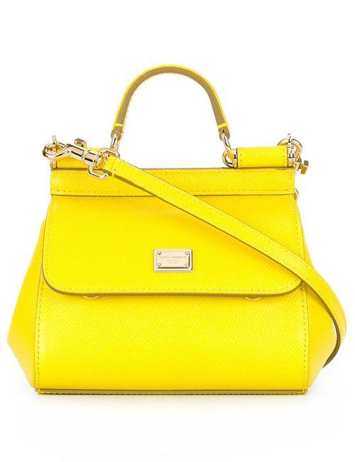 Dolce & Gabbana | Желтый Micro Sicily Tote