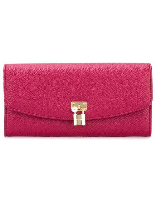 Dolce & Gabbana   Женский Розовый Длинный Кошелек Continental