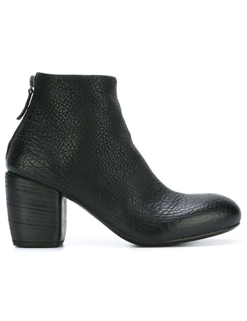Marsell | Женские Чёрные Ботинки По Щиколотку На Массивном Каблуке