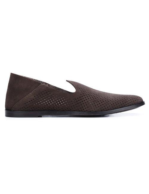 Pedro García   Женское Коричневый Perforated Loafer Shoes