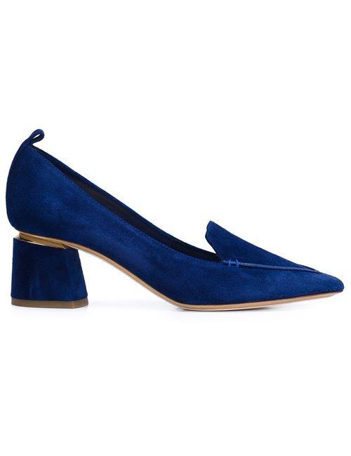 Nicholas Kirkwood | Женские Синие Туфли На Массивном Каблуке