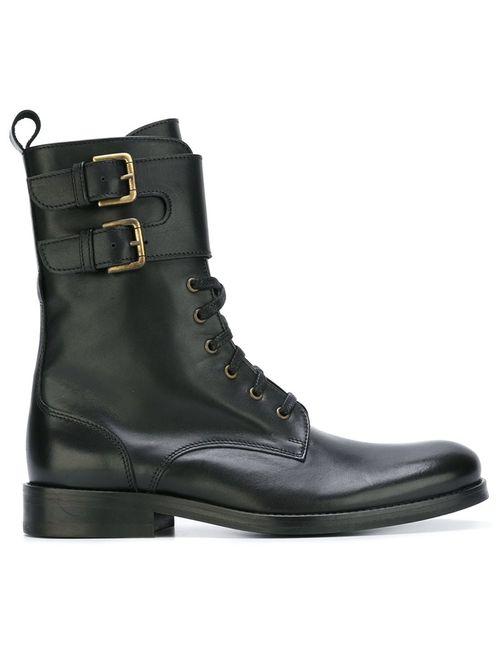 Cotélac | Женские Чёрные Ботинки С Ремешками