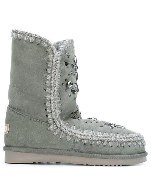 Mou | Женские Серые Ботинки Eskimo