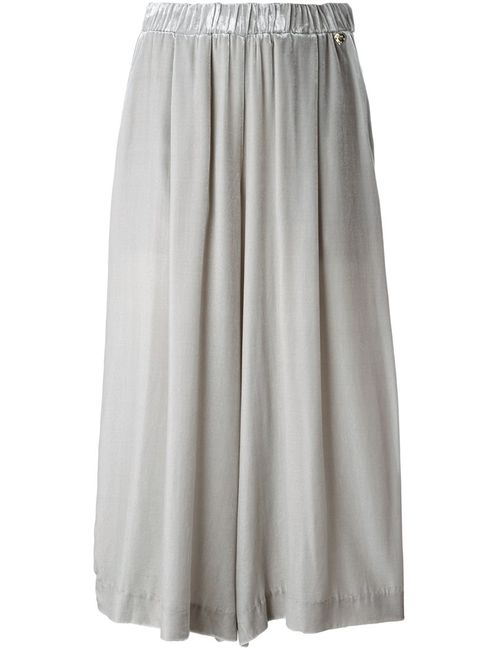 Twin-set | Серый Pleated Cropped Trousers