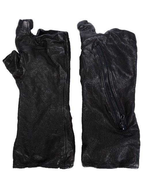 JULIUS | Мужское Чёрный Zip Detail Gloves