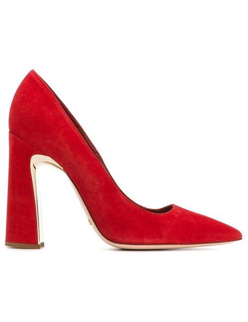 Sebastian | Женское Красный Sculpted Block Heel Pumps