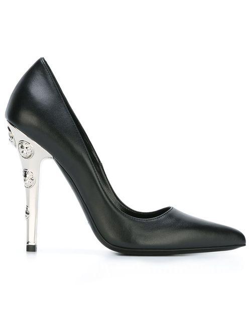 Versus | Женские Чёрные Туфли С Инкрустированными Каблуками