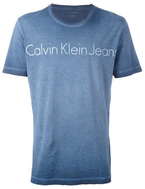 Calvin Klein Jeans | Мужская Синяя Футболка С Логотипом