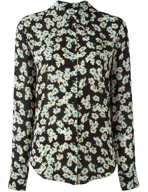 Sonia By Sonia Rykiel | Женская Чёрная Рубашка С Цветочным Узором