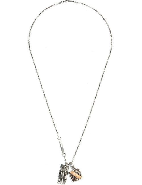 TOBIAS WISTISEN   Серебристый Mammoth Plate Necklace