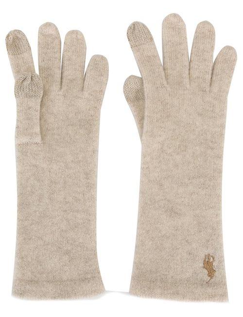 Polo Ralph Lauren | Женские Белые Сенсорные Перчатки С Логотипом