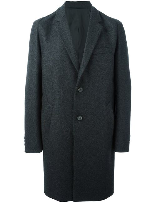 Wooyoungmi | Мужское Серое Классическое Однобортное Пальто