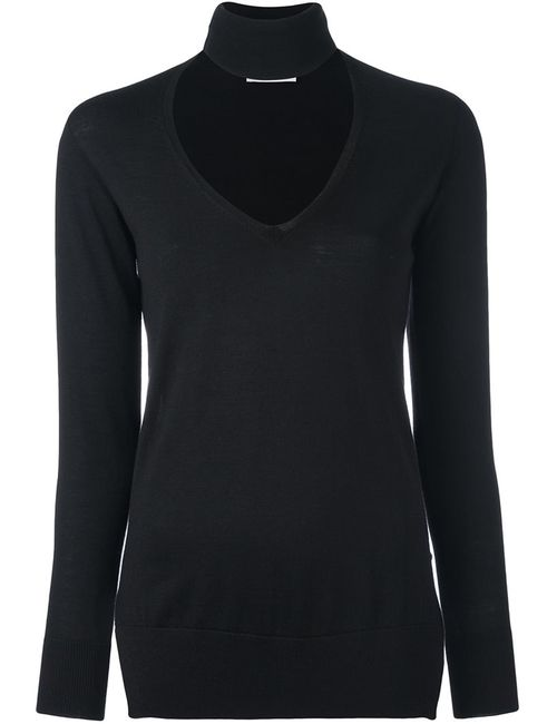 Zanone | Женское Чёрный V-Neck High Neck Pullover