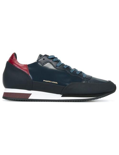 Philippe Model | Мужские Синие Кроссовки С Панельным Дизайном