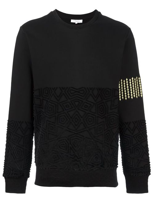 Les Benjamins | Мужское Чёрный Textured Sweatshirt