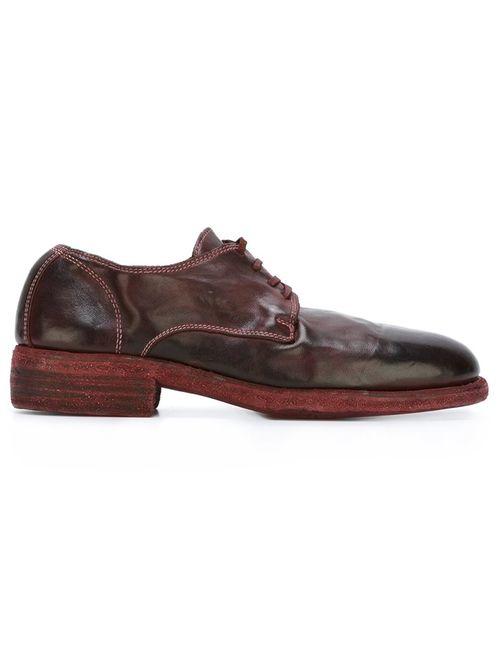 GUIDI | Женские Красные Туфли На Шнуровке